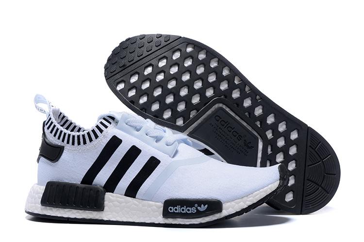 wholesale dealer bea8f 909e4 Adidas NMD Runner White Black men women