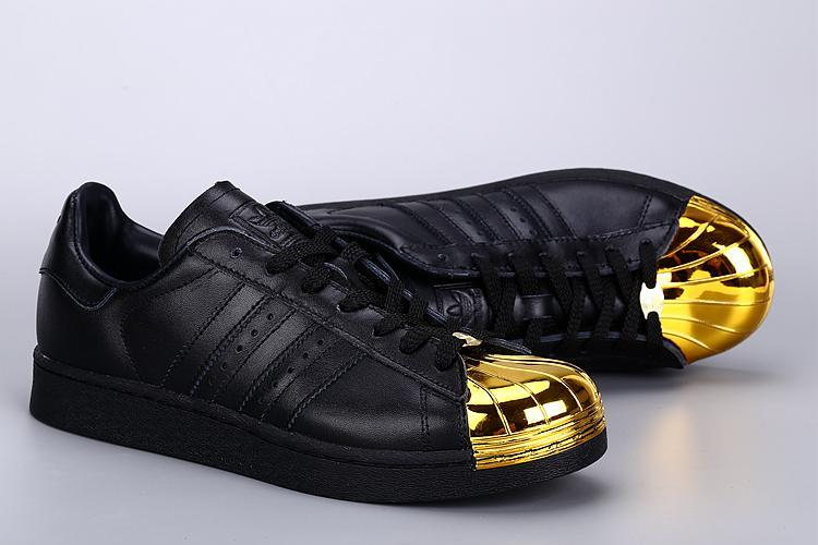 Mens Adidas SUPERSTAR METAL Black Golden