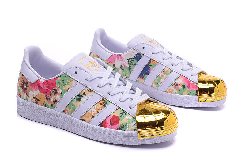 Womes Adidas Superstar 80s Metal Toe Golden