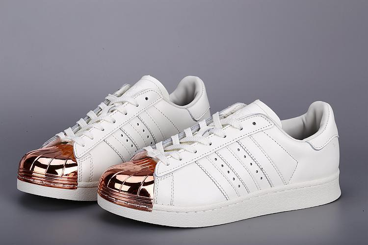 Womes Adidas SUPERSTAR METAL White Golden