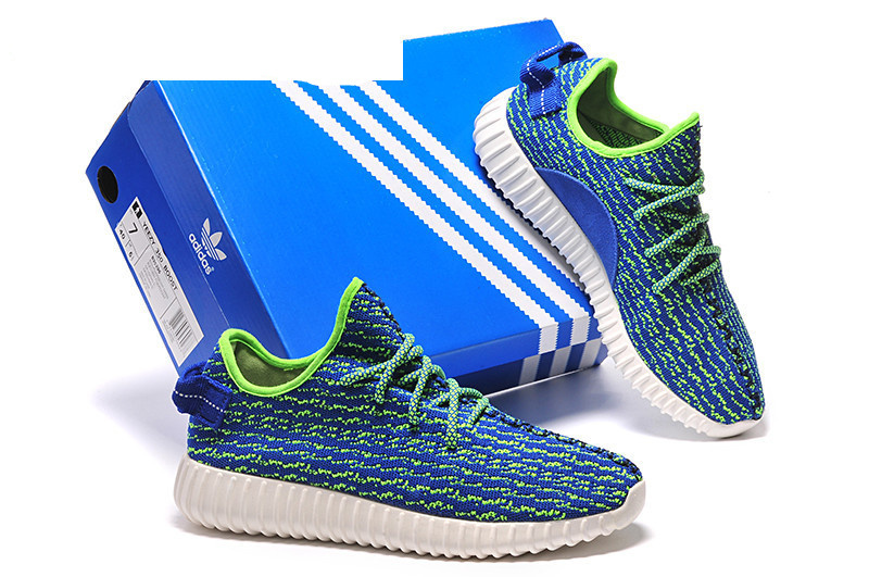 Mens Adidas Yeezy Boost 350 Low Kanye West Blue Green